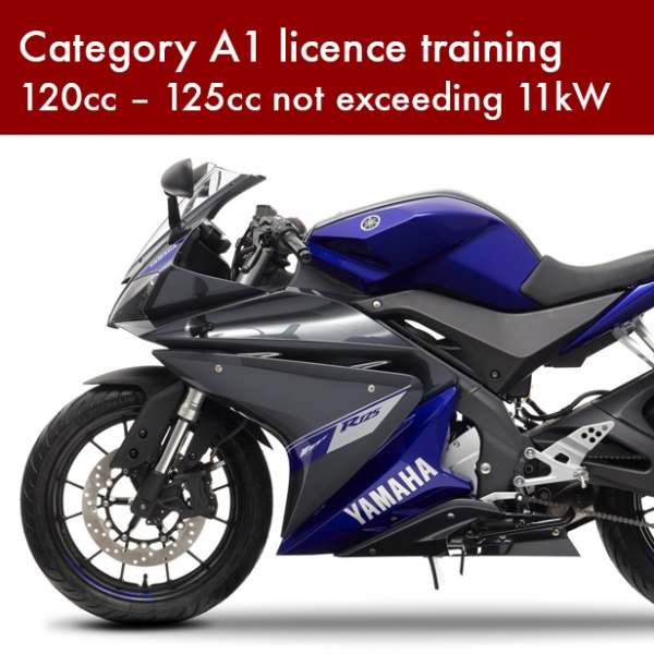 Category A1 licence training – 120cc – 125cc not exceeding 11kW